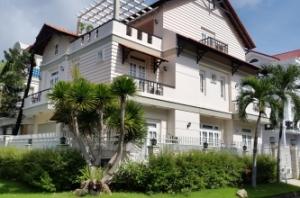 Cho thuê biệt thự căn góc 2 mặt tiền nhà mới nội thất cao cấp ngay khu Cảnh Đồi